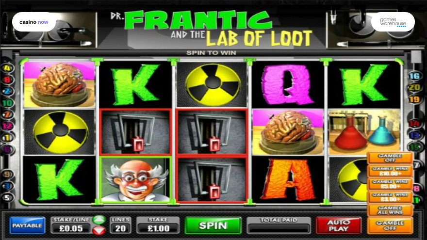 Spielautomat Dr Frantic And The Lab Of Loot Games Warehouse Bild