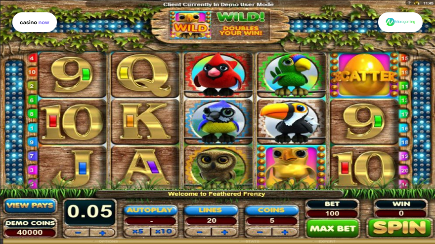 Spielautomat Feathered Frenzy Microgaming Bild