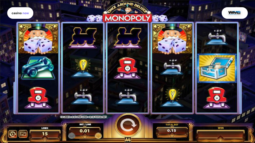 Spielautomat Once Around Deluxe Monopoly WMS Bild