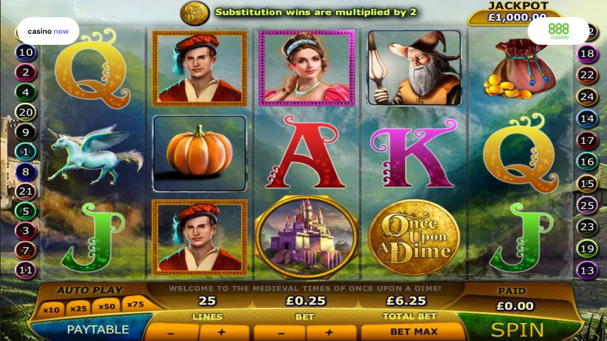 Spielautomat Once Upon a Dime 888 Gaming Bild