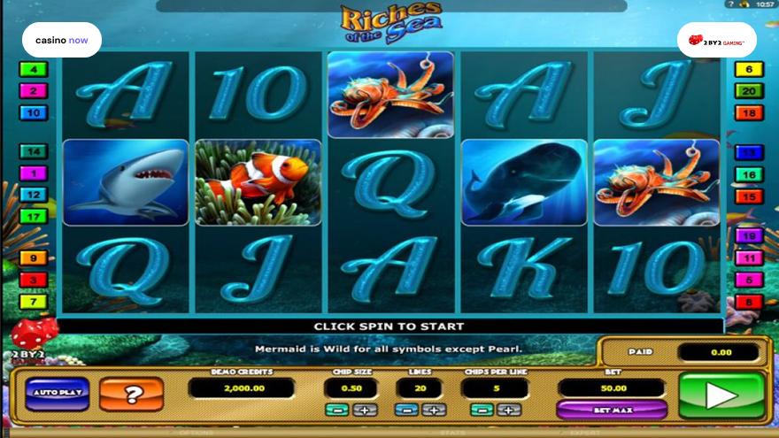 Spielautomat Riches of the Sea 2 By 2 Gaming Bild